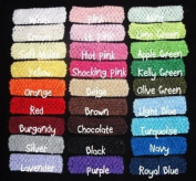 (12) Mix Assorted Crocheted Headbands-3.8cm