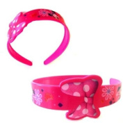 Disney Minnie Mouse Headband - Minnie Mouse Plastic Headband - Minnie Mouse Flexible Plastic Headband