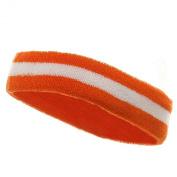 Terry Stripe Headband-Orange White W15S28C