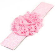 RHX Pink Beauty Baby Infant Newborn Cute Flower Lace Tulle Headband Hair Band New