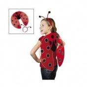 Nylon Ladybug Wings and Antennae Headband