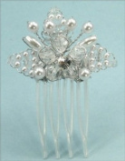 Hairpins of Faux Pearls & Crystal Beads Accented with Austrian Rhinestone in Set of Three #82B0