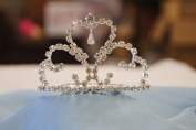(SMALL)Elegant Bridal Wedding Tiara Crown with Crystal Party Accessories DH5756
