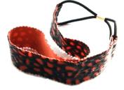 Leopard Orange Elastic Headband