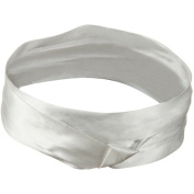 Silk 3 Pleat Fashion Band - White