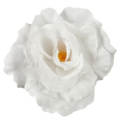 Rose King Size Pin and Clip - White