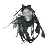 Halloween Glitter Skull Headband Hat - Black Headband