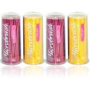 MFA400 PT# MFA400- Microbrush Applicator Fine Yellow/Pink 400/Pk by, Microbru...