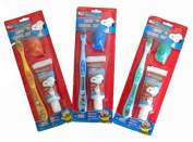 Peanuts Snoopy Travek Kit - Snoopy Tooothbrush and Toothpaste Set