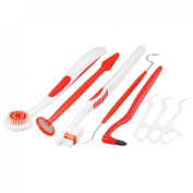 Set 20cm 1 Tooth Brush Stain Eraser Floss Toothpick Mirror Dental Care Tool Kit