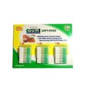 Sunstar GUM Soft-picks with Convenient Travel Cases, 3 Packs , 240 Picks Each