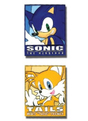 Sonic The Hedgehog Sonic and Tails Frame PVC Pin Set
