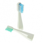 Set of 2 replacement heads for Dazzlepro XVR-7020 Travel Sonic Toothbrush