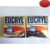 Eucryl Toothpowder Original Powerful Stain Removal 50gx2