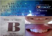 CREST 3D SMILE RENEWAL WHITESTRIPS (1 COUNT POUCH) 2 STRIPS - PLUS ORTHODONTIC GAP TEETH BANDS