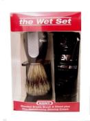 Kent The Wet Set Shaving Brush Set w/Cream