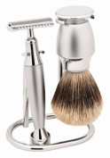 Traditional Razor Set with Pure Badger Brush. Made by Erbe in Solingen, Germany