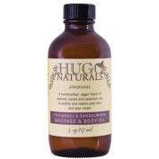 Hugo Naturals Massage & Body Oil-Patchouli & Sandalwood-4, oz.