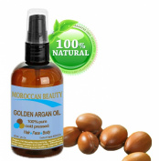 Moroccan Beauty Golden Argan Oil, 100% Pure, Cold Pressed, for Professional Use, 2 Oz-60ml