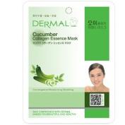 Dermal Korea Collagen Essence Full Face Facial Mask Sheet - Cucumber