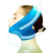 Beauty V-Line Face Chin Neck Facial Skin Lift Up Belt - Blue