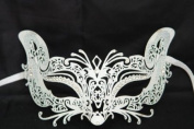 Venetian Seductive Fox Design Laser Cut Masquerade Mask Vibrantly Decorated and Intricately Detailed