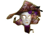 NEW Royal Jester Inspired Classic Venetian Intricate Design Laser Cut Masquerade Mask - Elegantly Detailed with Vibrant Colours- Purple and Gold