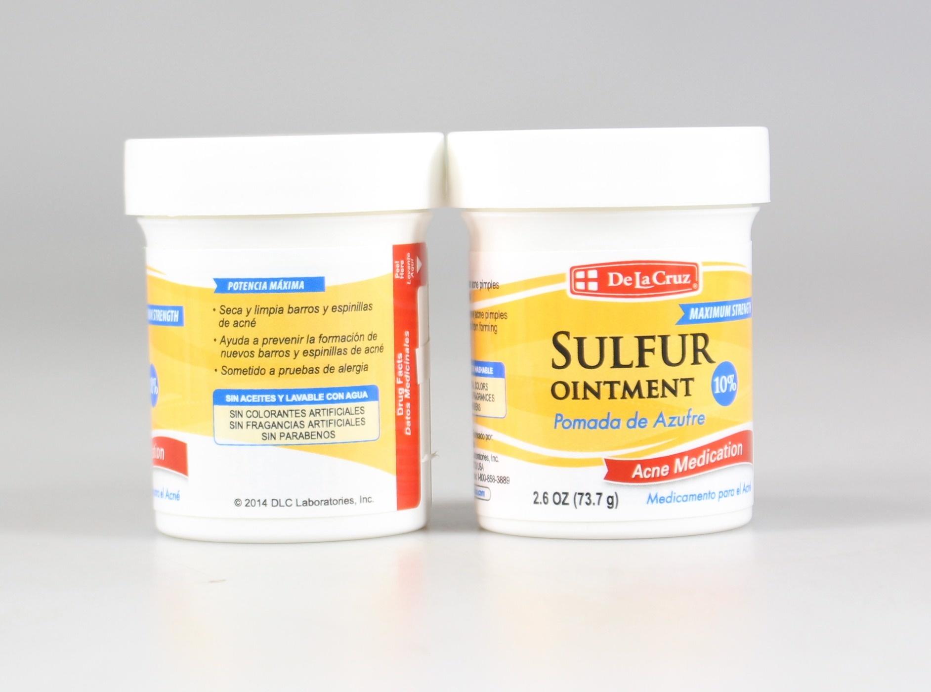 De La Cruz Sulphur Ointment Acne Medication 80ml Lot of 2
