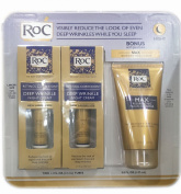 ROC Wrinkles Reduce Moisturiser Night Cream 2 Tubes a with Facial Cleanser