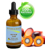 """RED PALM OIL 100% Pure / Natural / Undiluted Cold Pressed Carrier Oil. 0.15 fl.oz-15ml. For Face, Body, Hair, Lip and Nail Care. """"One the richest natural sources of vitamin A and E."""" by Botanical Beauty"""