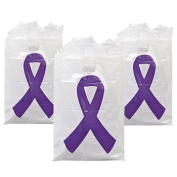 Purple Ribbon Treat Bags - Party Favour & Goody Bags & Plastic Goody Bags & Boxes