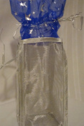 Silver and Blue Star Tall Gift Bag 28cm x 10cm x 8.9cm