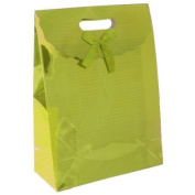 Large Gold Chequered Holographic Gift Bag