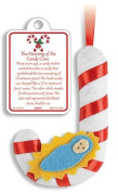 Story of the Candy Cane with Infant Jesus Christ 13cm Felt Christmas Tree Hanging Ornament
