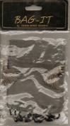 Bag-It 8.9cm x 11cm Beaded Organdy Gift Bag Grey