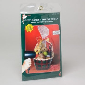 RED Gift Basket Shrink Wrap 60cm x 80cm with Accent Ribbons
