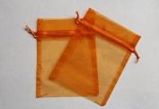 36 Organza Favour Gift Bags - 7.6cm x10cm - Orange