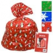 2-Pack Giant Gift Bag for Wrapping Large Gifts (each bag 90cm x 110cm ), Non-denominational Winter designs