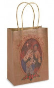 Christ the Saviour is Born Saint Joseph Blessed Virgin Mary Jesus Christ Holy Family Nativity 23cm Brown Paper Christmas Gift Bag Tote