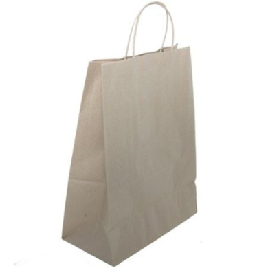 X- Large (12 5/8 x 15 1/2 x 6) Brown Solid Kraft Gift Bags -sold individually