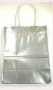 Glossy Silver Medium Size Gift Bag with Handles - 22cm X 11cm X 28cm