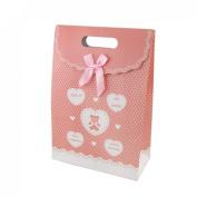 Rosallini Pink Heart Dot Pattern Valentine Gift Present Paper Bag
