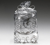 (10) Black Swirl Cello Birthday Party Shower Favour Treat Bags 11x5x2.5