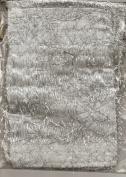 Bag-It 13cm x 18cm Fringed Cloth Gift Bag Silver/White