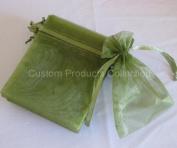 30 Moss Green Organza Jewellery Gift Wedding Bags, 7.6cm x 10cm