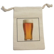 Beer Funny - Birthday Retirement Wedding Muslin Cotton Gift Party Favour Bags