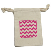 Chevrons Pink Muslin Cotton Gift Party Favour Bags