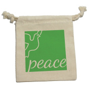 Elegant Peace Dove Green - Christmas Muslin Cotton Gift Party Favour Bags