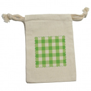 Gingham Green - Picnic Western Birthday Muslin Cotton Gift Party Favour Bags