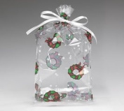 Cello Bags Holiday Wreath Small - Pack of 20
